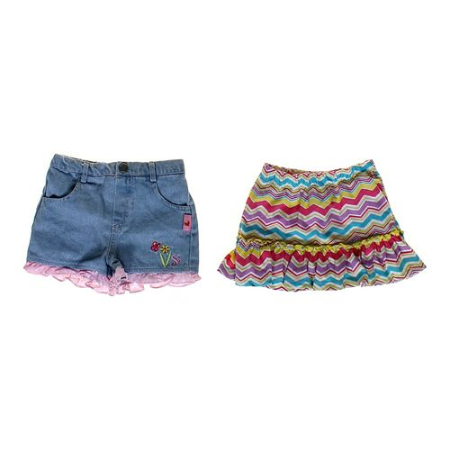 Kidgets Denim Shorts & Skirt Set in size 12 mo at up to 95% Off - Swap.com