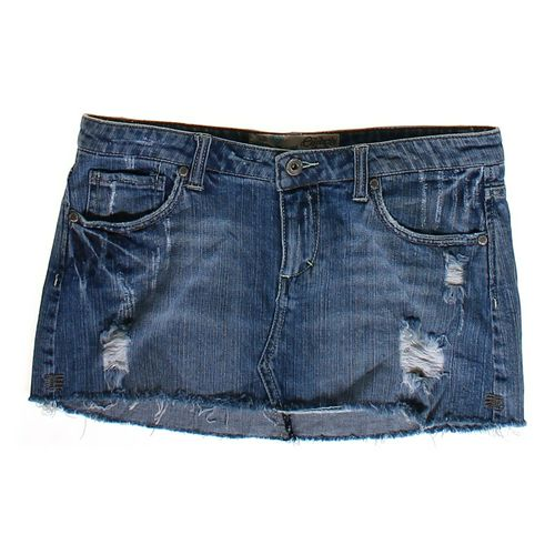 Celebrity Pink Denim Skirt in size JR 7 at up to 95% Off - Swap.com