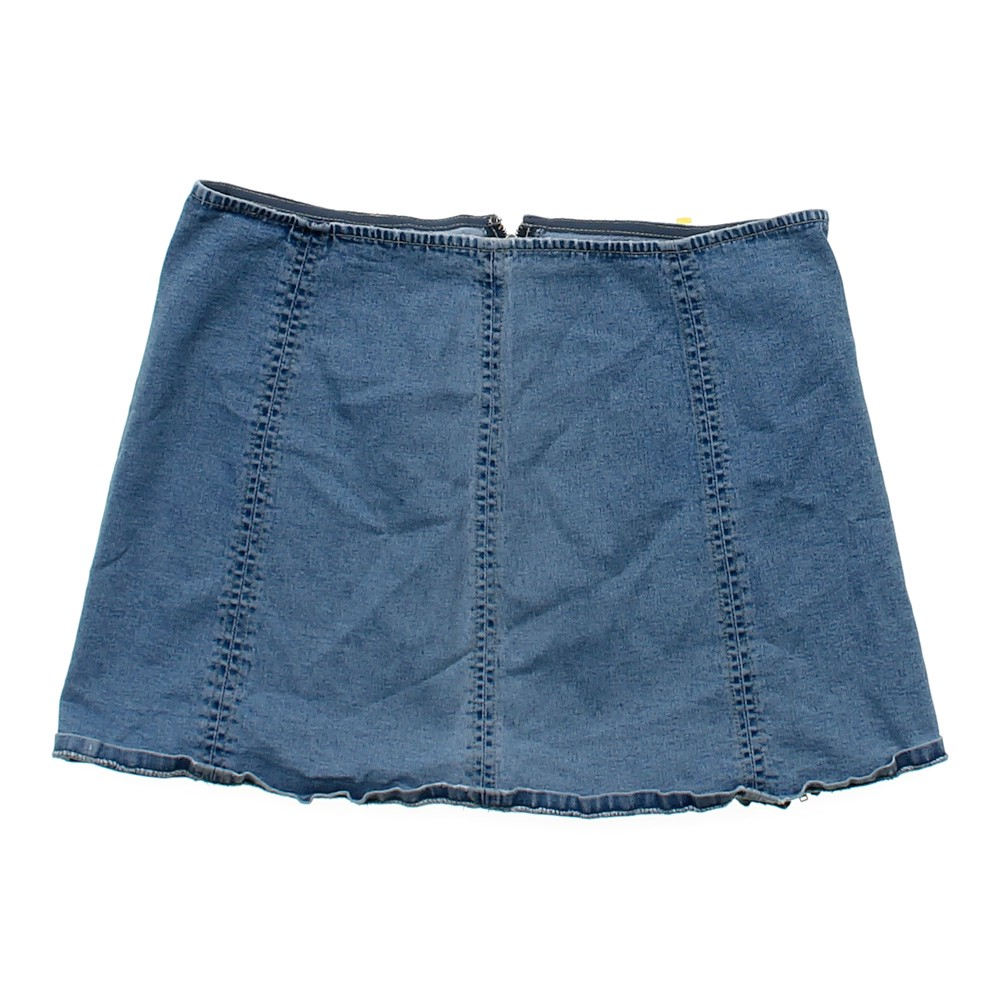 blue navy dkny denim skirt in size jr 13 at up to 95