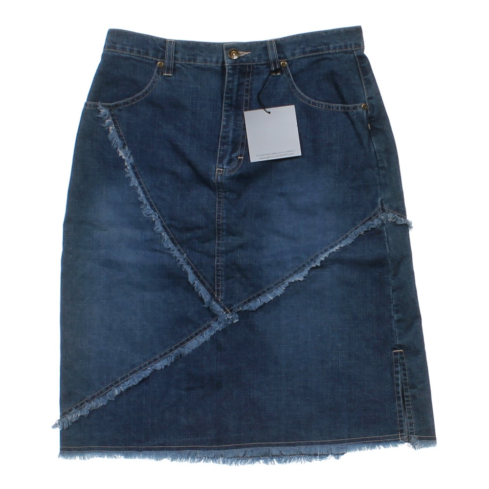 gloria vanderbilt denim skirt consignment