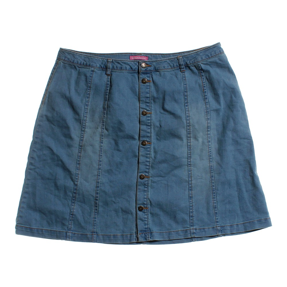 blue navy within denim skirt in size 20 at up to 95