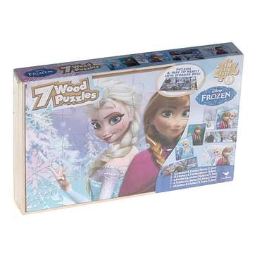 Disney Frozen Wood Puzzles in Wood Storage Box - 7 Puzzles Puzzle for Sale on Swap.com