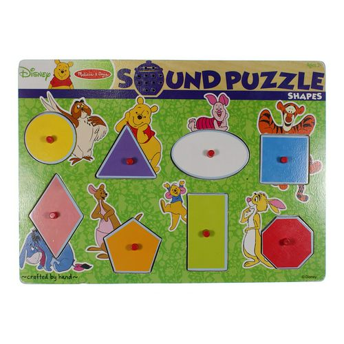 Melissa & Doug Disney's Winnie The Pooh Shapes Wooden Sound Puzzle by Melissa & Doug Puzzle at up to 95% Off - Swap.com