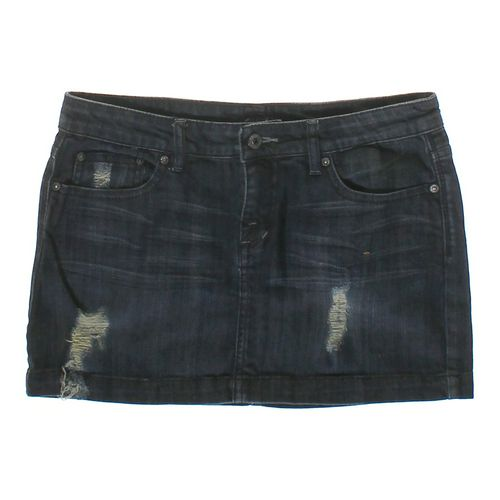 Clash Distressed Denim Skirt in size JR 7 at up to 95% Off - Swap.com
