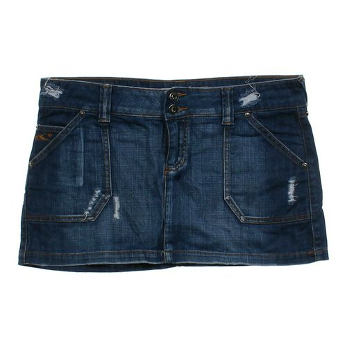 Oriel Distressed Denim Skirt in size JR 9 at up to 95% Off - Swap.com