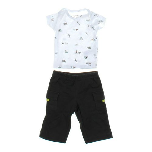 Carter's Dog Patterned Tee & Simple Pants Outfit in size NB at up to 95% Off - Swap.com