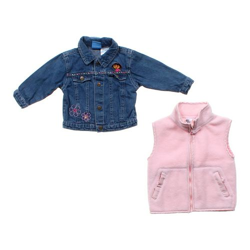 Nick Jr. Dora Denim Jacket & Fleece Vest in size 12 mo at up to 95% Off - Swap.com