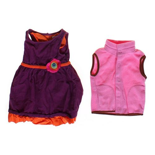 Genuine Kids from OshKosh Dress & Fleece Vest in size 12 mo at up to 95% Off - Swap.com