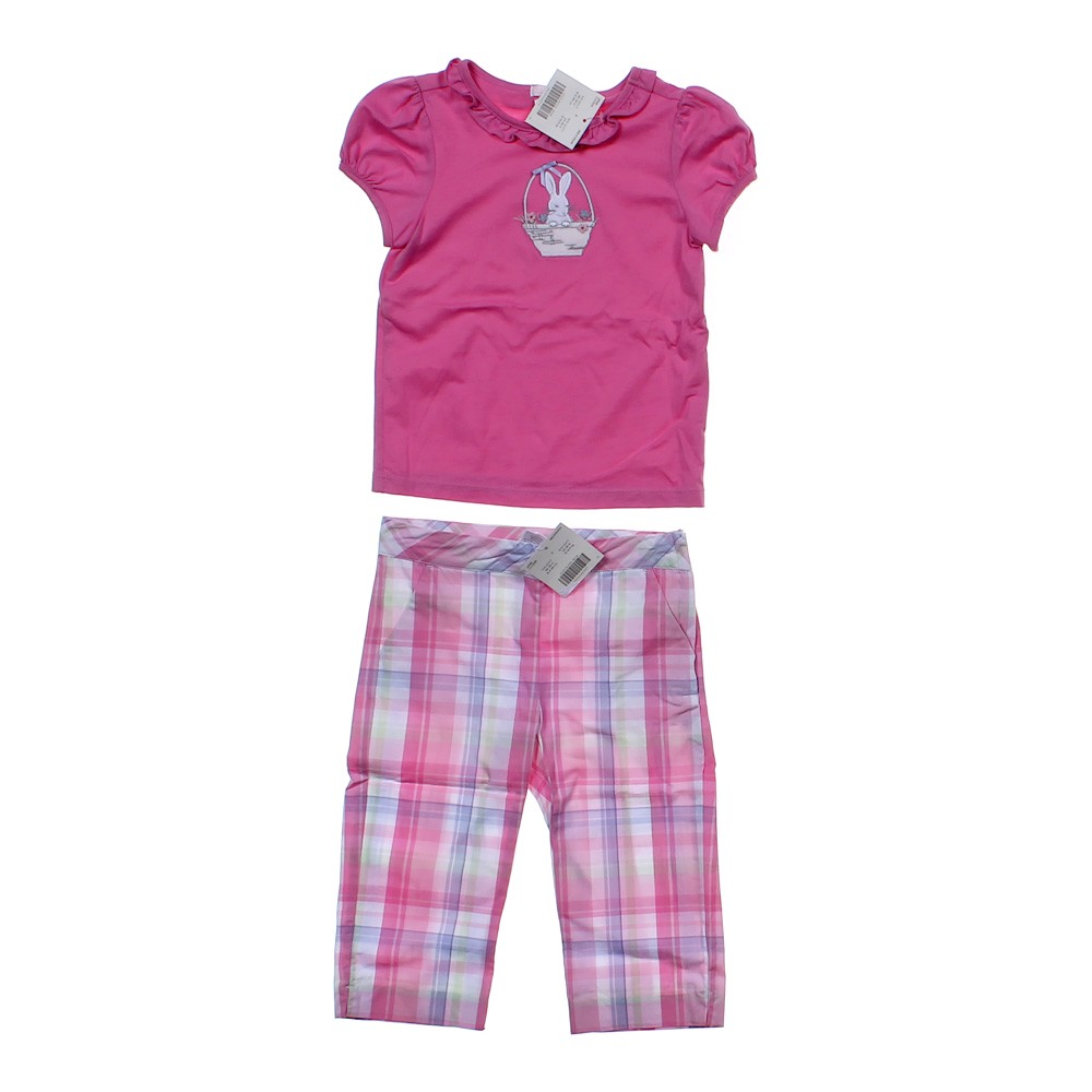Janie And Jack Easter Basket T Shirt Pants In Size 3 3t