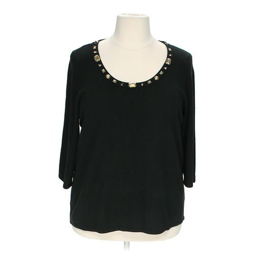 Luxe Arden B. Embellished Blouse in size 2X at up to 95% Off - Swap.com