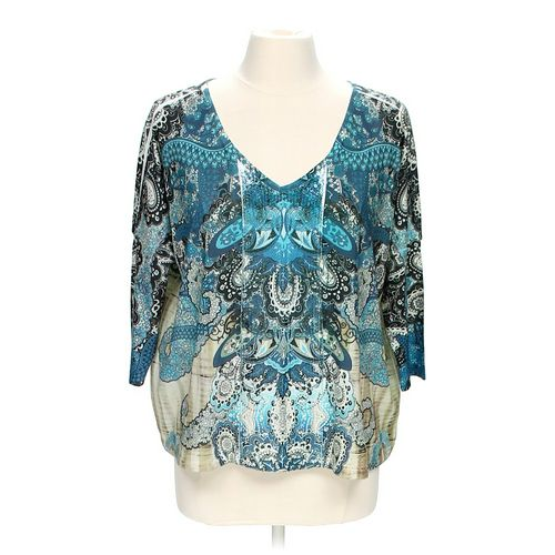 Style & Co Embellished Blouse in size M at up to 95% Off - Swap.com