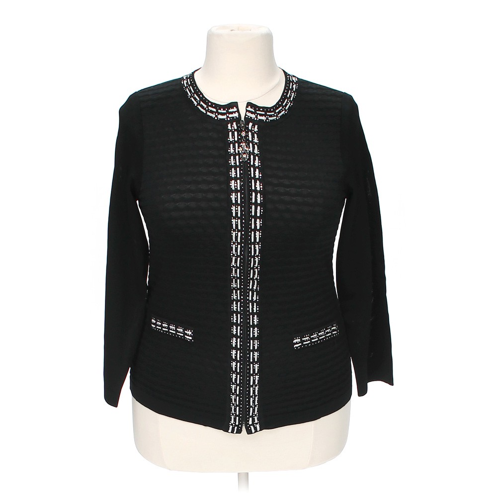 Black two two embellished cardigan in size xxl at up to 95 for Xxl 18 xxl 2012 black