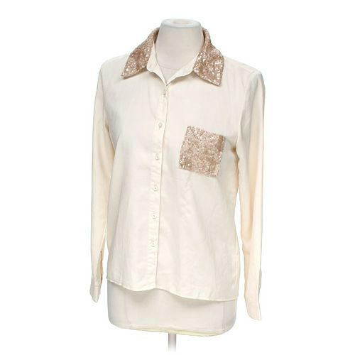 Monteau Embellished Collar & Pocket Blouse in size M at up to 95% Off - Swap.com