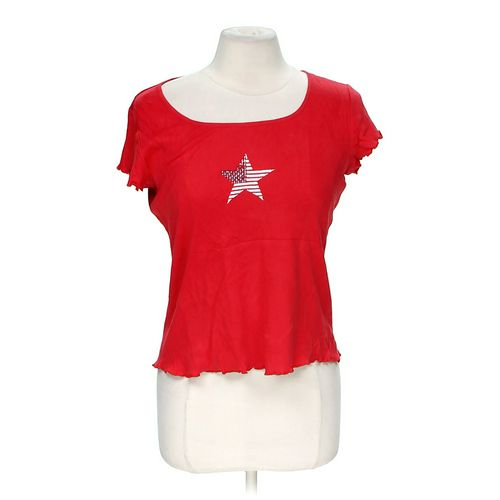 Villager By Liz Claiborne Embellished Cropped Shirt in size M at up to 95% Off - Swap.com