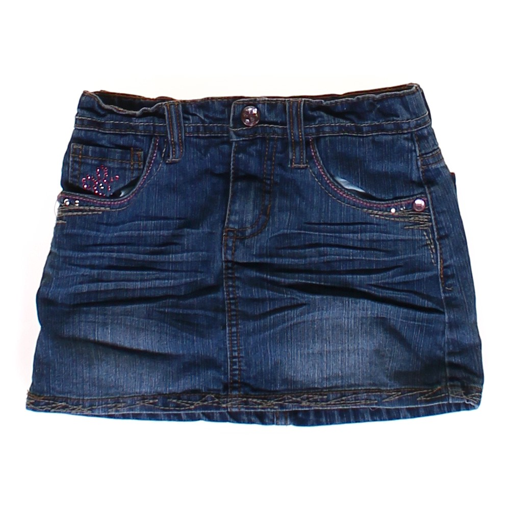 squeeze embellished denim skirt consignment