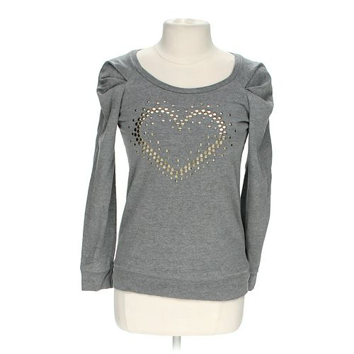 Eye Candy Embellished Heart Shirt in size JR 7 at up to 95% Off - Swap.com