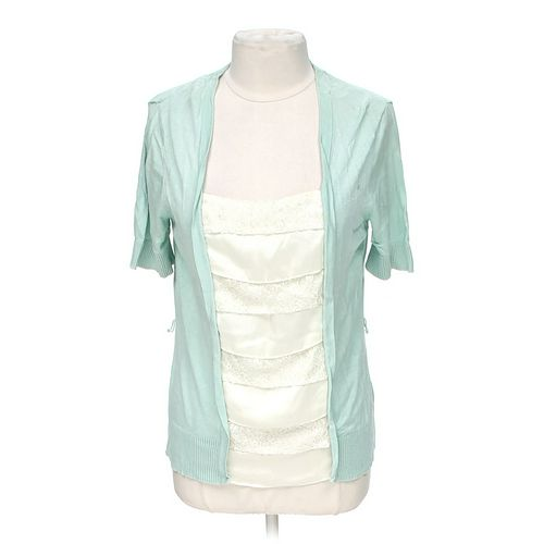 Covington Embellished Mock Layered Blouse in size L at up to 95% Off - Swap.com