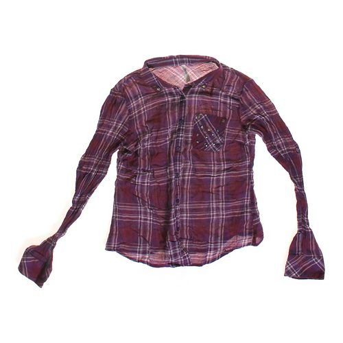 Truth Embellished Plaid Button-up Shirt in size JR 7 at up to 95% Off - Swap.com