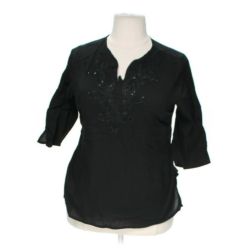 Club Z Collection Embellished Shirt in size 1X at up to 95% Off - Swap.com