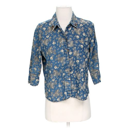 Liz Claiborne Embellished Shirt in size M at up to 95% Off - Swap.com