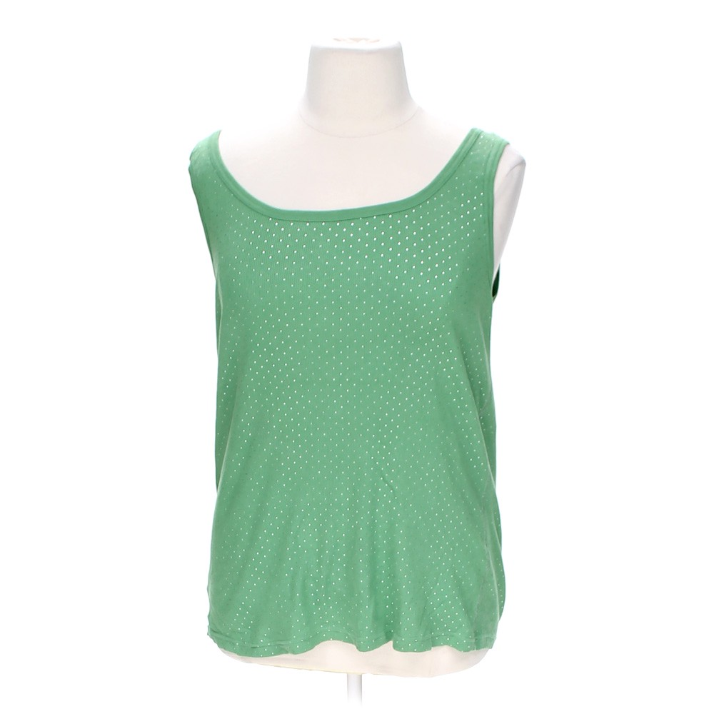 Faded Glory Embellished Tank Top In Size 2x At Up To 95