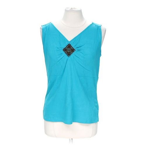 St. John's Bay Embellished Tank Top in size M at up to 95% Off - Swap.com
