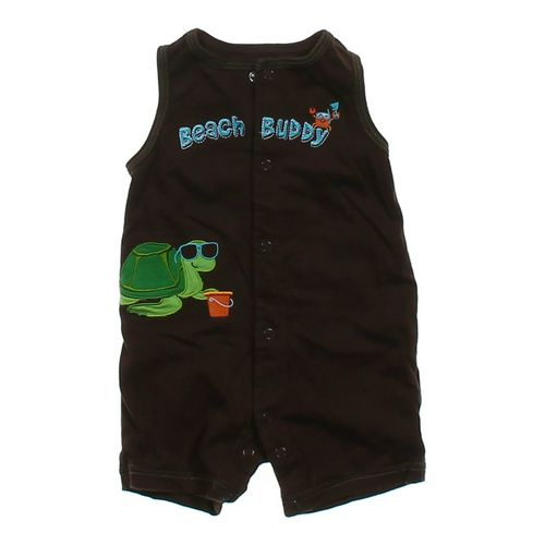 """Child of Mine Embroidered """"Beach Buddy"""" Romper in size 3 mo at up to 95% Off - Swap.com"""