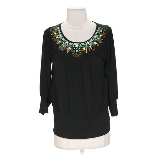 Bob Mackie Embroidered Blouse in size XS at up to 95% Off - Swap.com