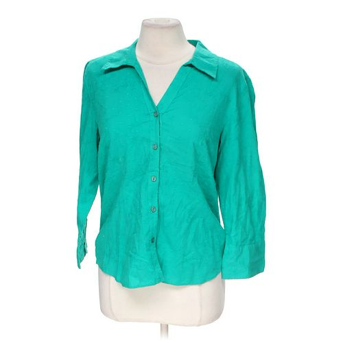 JM Collection Embroidered Button-up Shirt in size 10 at up to 95% Off - Swap.com