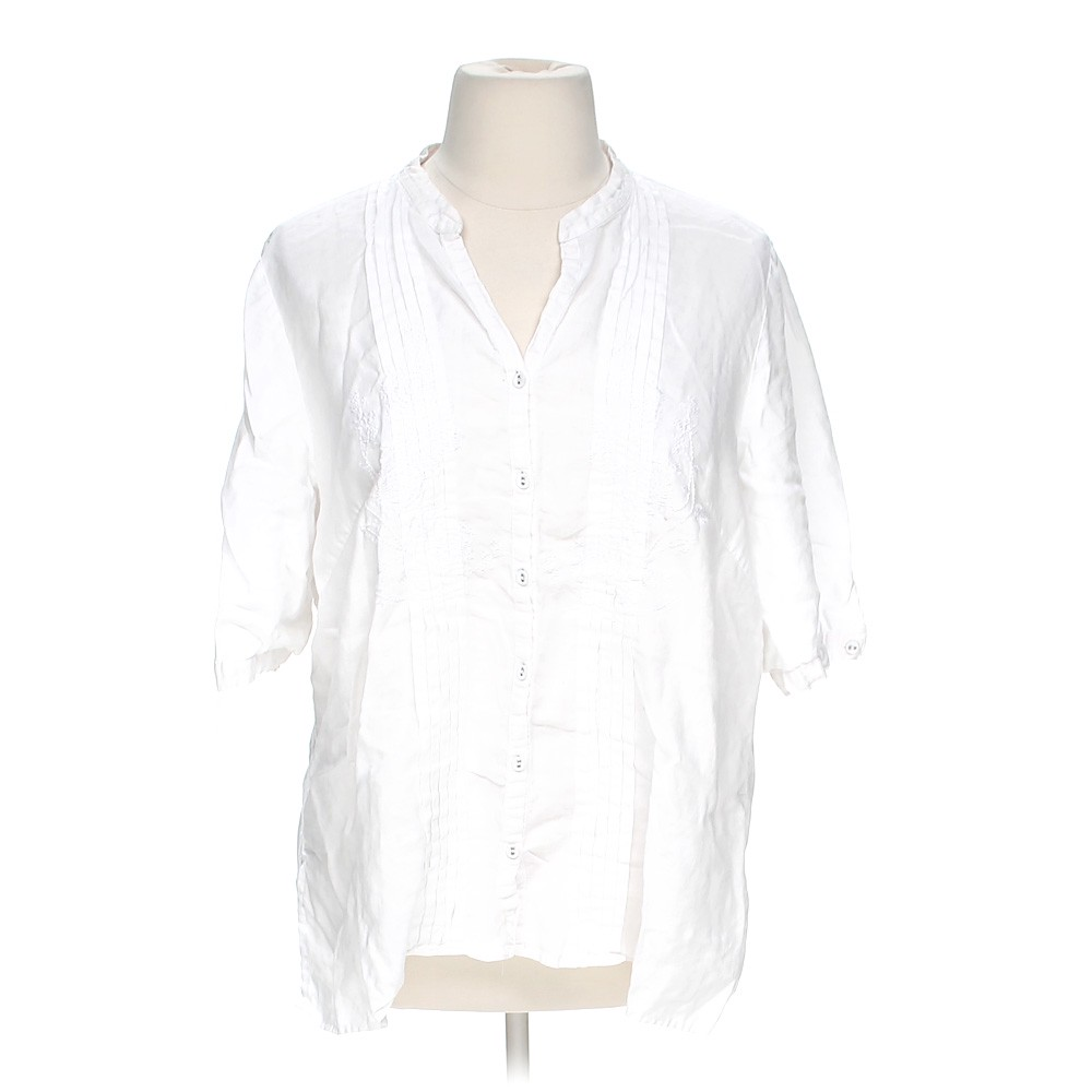 Tweeds embroidered button up shirt online consignment for How to hand wash white shirt