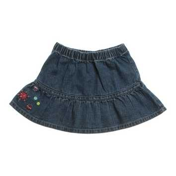 Embroidered Denim Skirt for Sale on Swap.com