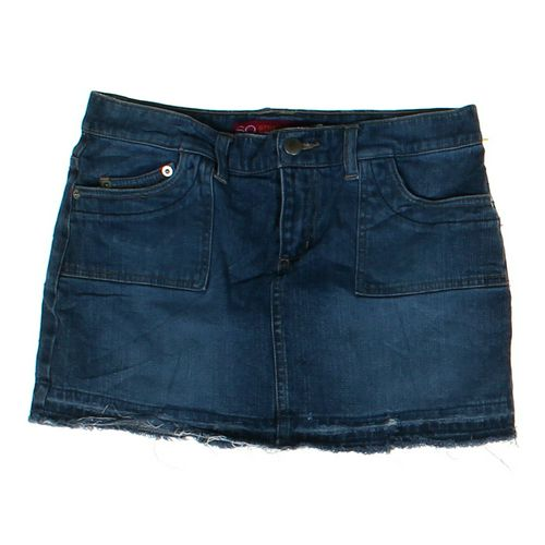 SO Embroidered Denim Skirt in size JR 5 at up to 95% Off - Swap.com