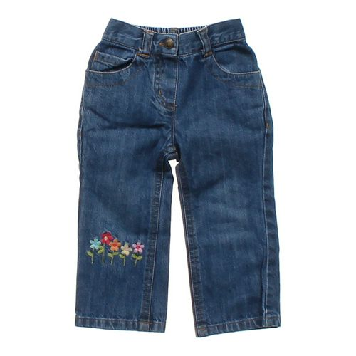 Gymboree Embroidered Flower Jeans in size 6 mo at up to 95% Off - Swap.com