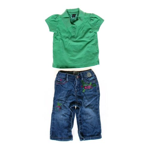 babyGap Embroidered Jeans & Polo Shirt in size 12 mo at up to 95% Off - Swap.com