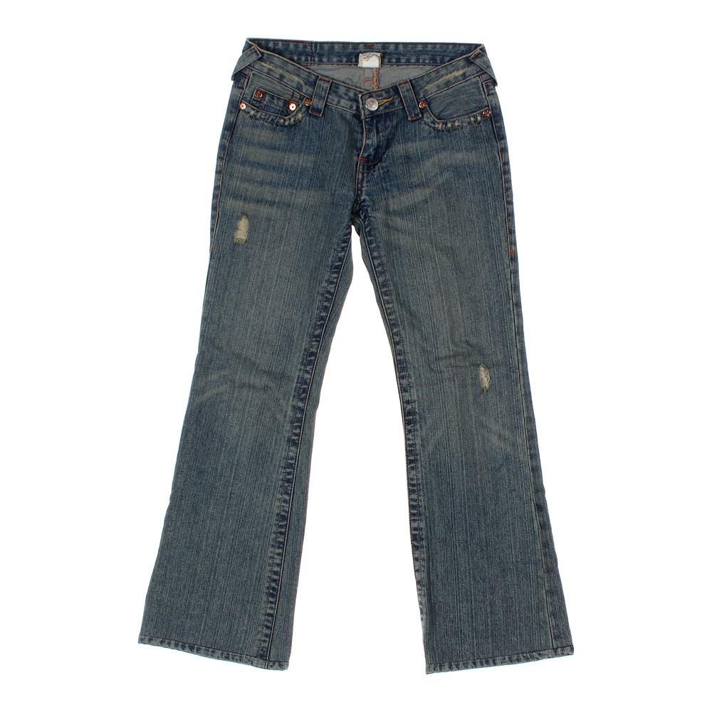 True religion embroidered jeans in size at up to off