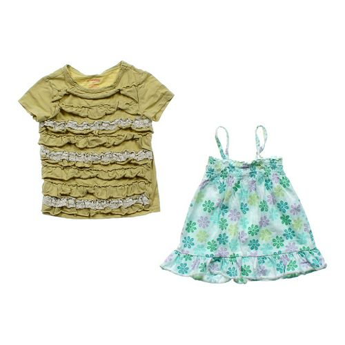 Genuine Kids from OshKosh Embroidered Shirt & Smocked Tank Set in size 5/5T at up to 95% Off - Swap.com