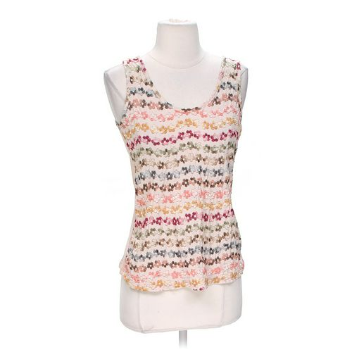 Thread Embroidered Tank Top in size M at up to 95% Off - Swap.com