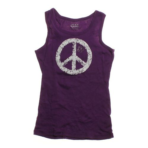 The Children's Place Emeblillshed Peace Sign tank Top in size 10 at up to 95% Off - Swap.com