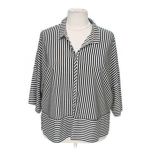 ADRIANNA PAPELL Fashionable Button-up Blouse in size 1X at up to 95% Off - Swap.com