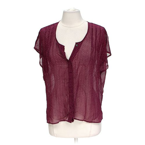 Fashionable Sheer Blouse in size L at up to 95% Off - Swap.com