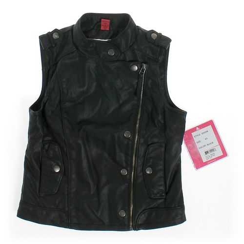CollectionB Faux Leather Vest in size JR 0 at up to 95% Off - Swap.com