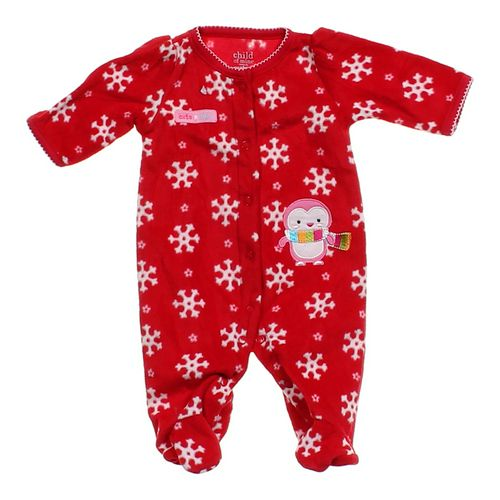 Child of Mine Festive Fleece Footed Jumpsuit in size NB at up to 95% Off - Swap.com