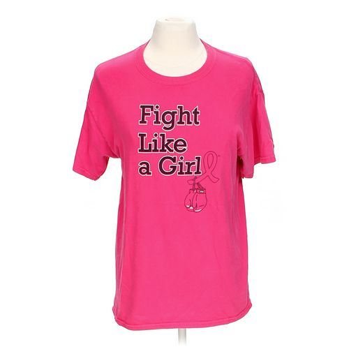 "Gildan ""Fight Like A Girl"" Shirt in size M at up to 95% Off - Swap.com"
