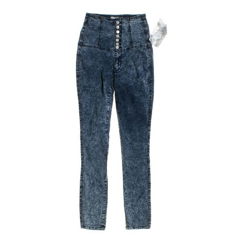 Crave Fame Fitted Mock Denim Pants in size JR 7 at up to 95% Off - Swap.com