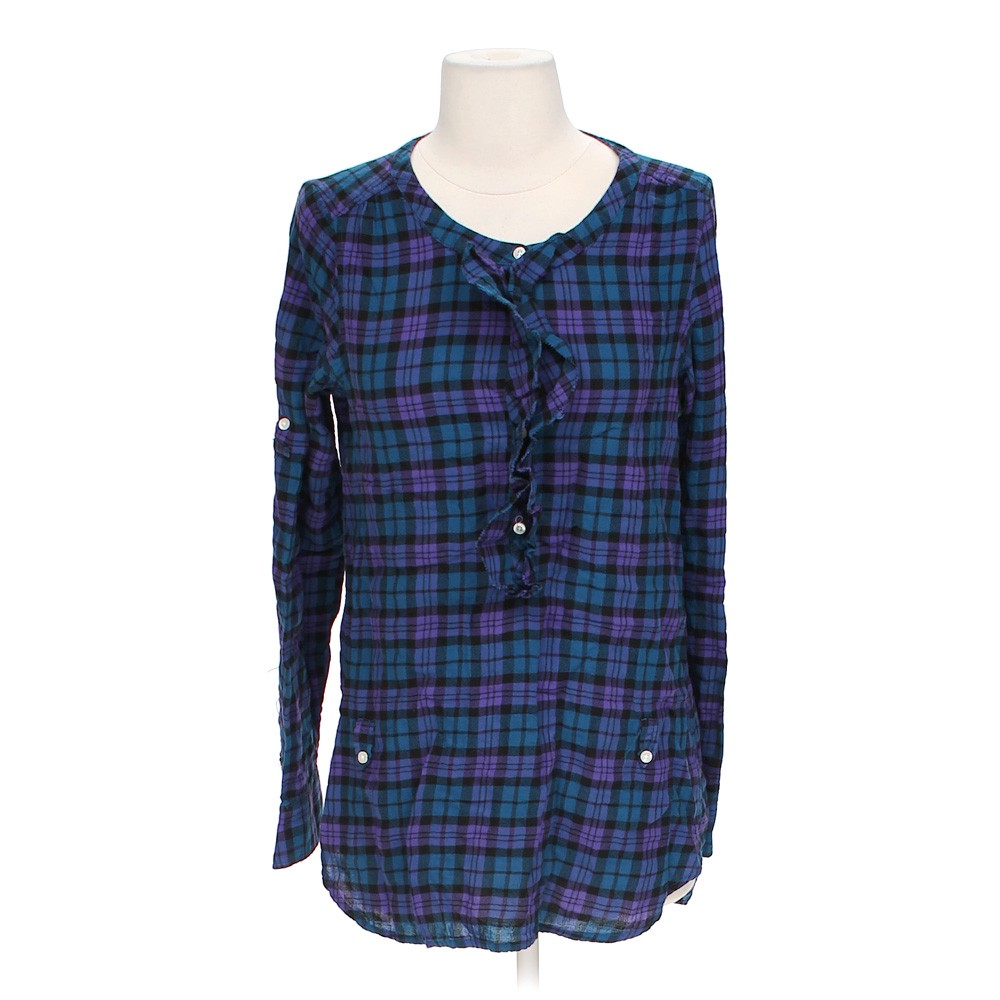 American eagle outfitters flannel button up online for Button up flannel shirts