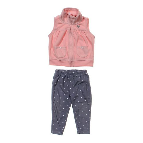 Carter's Fleece Vest & Pants Set in size 12 mo at up to 95% Off - Swap.com