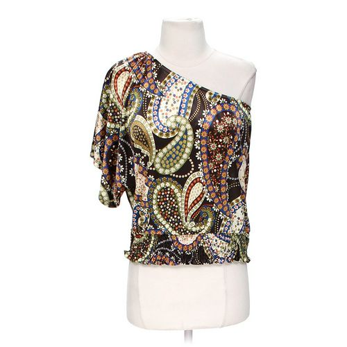 Rampage Floral Asymmetrical Blouse in size S at up to 95% Off - Swap.com