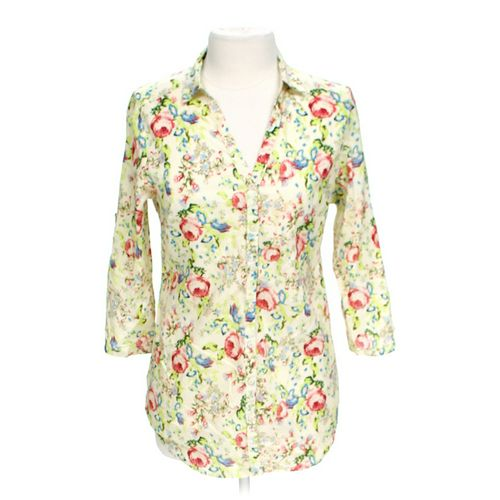 D Collection Floral Button-up Shirt in size L at up to 95% Off - Swap.com