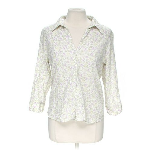St. John's Bay Floral Button-up Shirt in size M at up to 95% Off - Swap.com