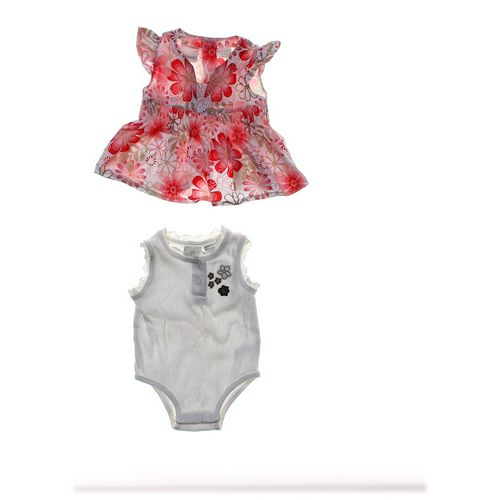 Miniwear Floral Dress & Bodysuit in size 6 mo at up to 95% Off - Swap.com
